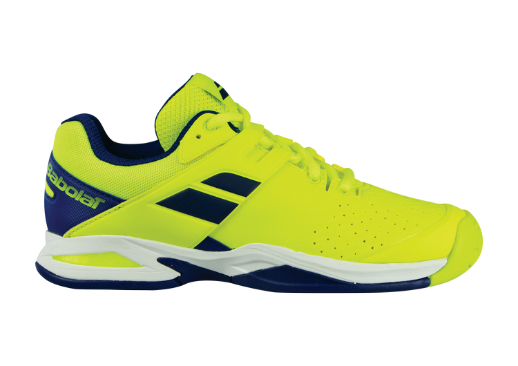 Кроссовки Babolat Propulse AC Junior Fluo Yellow Estate Blue