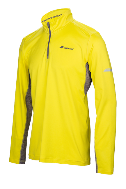 Футболка Babolat Core 1/2 Zip Men Yellow